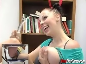 Gianna Michaels Classroom Titfuck and Masturbation