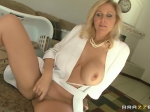 Beautiful, Blonde Cougar With Big Tits Enjoying A Hardcore, Missionary Style...