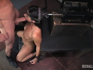 India Summer's mouth ravished by her masters' erected pricks
