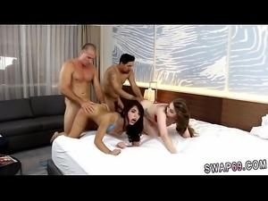 Ebony daddy girl kiss first time Beach Bait And Switch