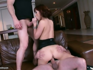 Teen doing lewd things in anal action