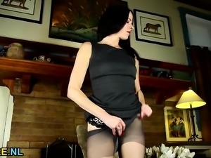 American housewife stripping and feeling naughty