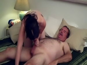 Freckled Teen Holly Fucks Friend's Dad