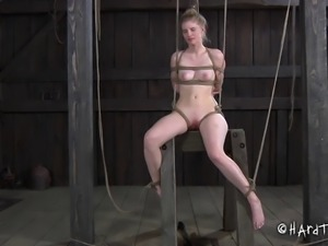 Tying up and torturing the pale beauty called Phoenix Rose