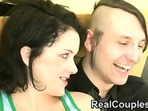Real couple talking then fucking Hyun from 1fuckdatecom