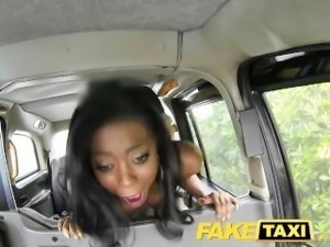 FakeTaxi Ebony gets down and dirty