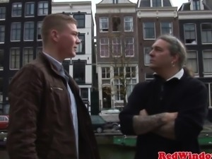 Real big jugged dutch hooker facialized
