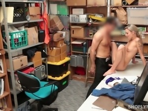 Teen cutie fucked bad doggystyle in the office
