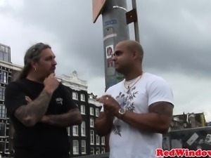 Dutch hooker pussyfucked and tits jizzed