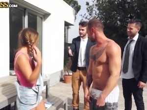 My friends were feeling boring, so I brought them at my house for a gangbang...
