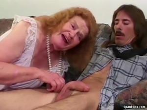 Toothless Granny Sucks And Fucks