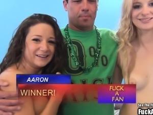 Sperm Swapping Hot Titty Blonde Fuck a Fan
