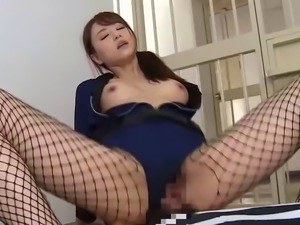 Akiho Yoshizawa adores having a stiff tool between her legs
