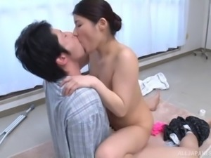 Japanese chick will do anything for her lover's erected prick