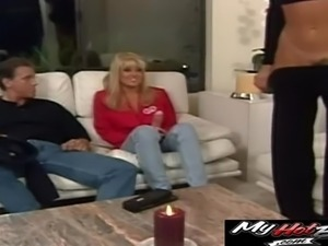 Anna Malle joins a couple of her friends for a formidable threesome