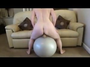 Amateur mature ride big ball and dildo -homemade
