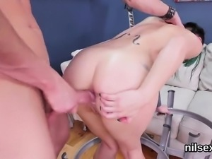 Kinky chick was taken in anal madhouse for harsh therapy