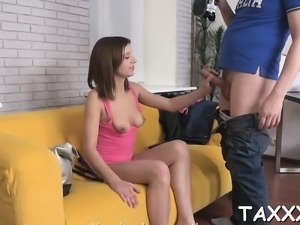Playgirl comes for a casting and seduces a lustful cameraman