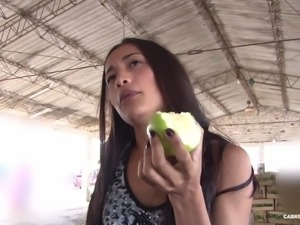 Naughty Juanita Gomez wants to play with a good-looking fellow