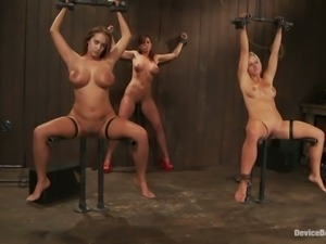 Three Naughty Girls Get Dominated in Wild Bondage Video