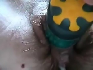 Toying Hairy Pussy