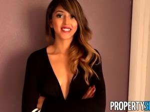 Sizzling Hot Sophia Leone Fucks Her Landlord at Rental Showing
