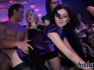 Ravishing sluts get rammed in an orgy