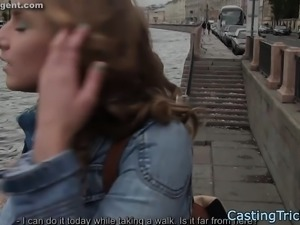 Pussyfucked casting teen loves doggystyle