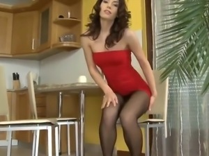Black pantyhose girl