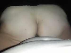 Perverted bitch with really huge ass took my buddy's cock balls deep in her slit