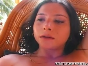 Skilled dark haired slut Catherine Count and one more spoiled hottie enjoy...