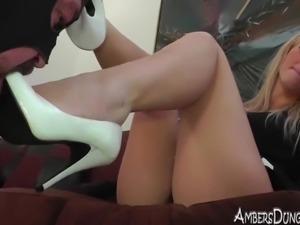 Amazon blonde femdom Mistress in hard core action