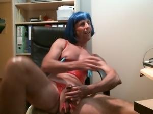 This pervert loves his rosebud and he definitely enjoys jerking off