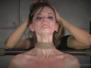 Skinny slave babe endures all sorts of kinky sex games