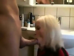 Blonde enjoys anal fucking and slut licking huge fat dick