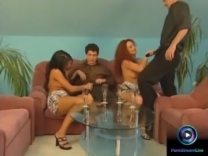 Sexy babes craving for man's juice