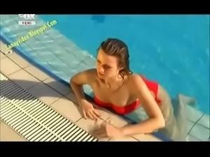 Gizem Karaca with bikini