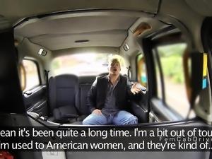 American guy bangs British cab driver