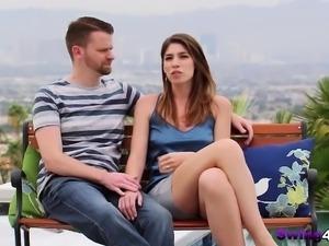 Wife sucks strangers' dicks and gets boned in swinger orgies