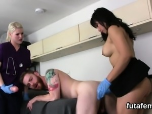 Kittens pound men anal with massive belt cocks and squirt lo