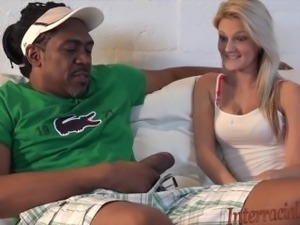 4K Tiny Blonde Hope takes biggest interracial black cock!