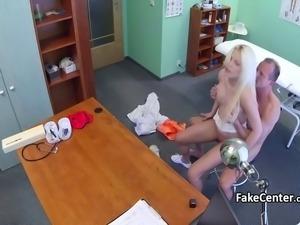 Doctor fucks busty blonde in hospital