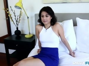 cute penelope sucks dick and gets fucked from behind
