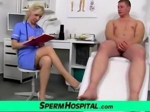 Stockings legs milf doctor Maya cum on tits