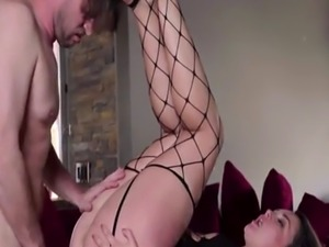 Horny house wife Allie Haze gets her ass fucked hard by dudes cock