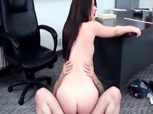 Pussyfucked schoolgirl gags on teachers cock