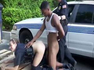 Amateur big black cock violator tag team fucked by two kinky police wo