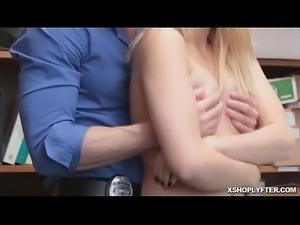 The officer gets Sierra naked and bang
