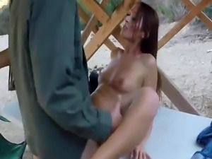 Cop gangbang jail and guy fucks real Brunette gets pulled over for a c