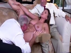 Skinny old mom first time Ivy impresses with her gigantic baps and ass